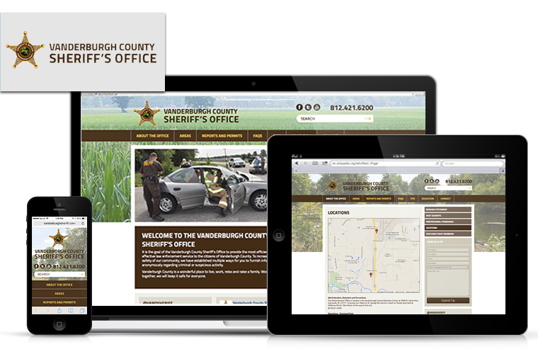 EXTEND COMMUNITY launches new website for Vanderburgh County Sheriff's Office